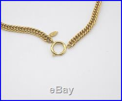 CHANEL CC Logos Coin charm Necklace 31 inch long Gold Tone Vintage #1023