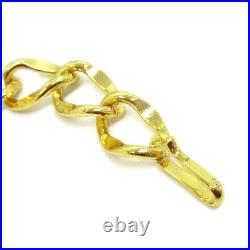 CHANEL CC Logos Medallion Charm Gold-tone Chain Belt Accessories 60421