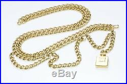 CHANEL Gold Tone CC Bottle Charm Chain Belt