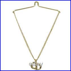 Christian Dior CD Logos Bag Charm Gold-tone Accessories Vintage Auth AK38340e