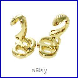 Christian Dior Logos CD Charm Earrings Gold-Tone Clip-On Accessories AK35962b