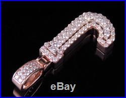 Custom 3D Letter J Initial Diamond Pendant Charm 10K Two Tone Gold 1.05 CT 1.5