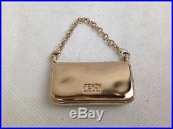 Fendi bag motif charm gold tone 5F300283#