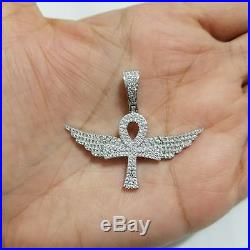 Flying Angel Wings Wheel Pendant 14k Gold Finish Diamonds Pave Charms Piece