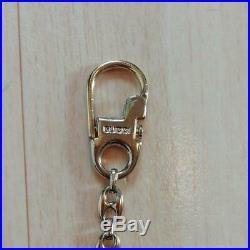 GUCCI Authentic Key Holder Vintage Interlock Gold Tone Bag Charm GG LOGO Chain