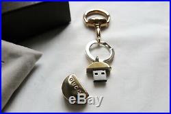 GUCCI gold tone horsebit keyring usb charm for monogram bag agenda card holder