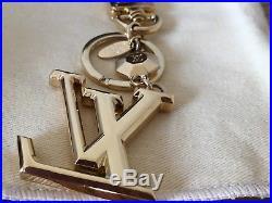 Gold LV Facettes Bag Charm & Key Holder. M65216. Free Shipping