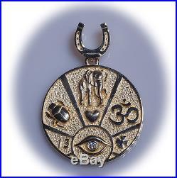 Gorgeous Good Luck Charm Pendant Talisman horseshoe evil eye
