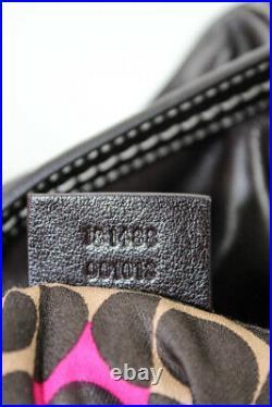 Gucci Leather Knight Crest Charm Gold Tone Bow Duchessa Boston Handbag Brown
