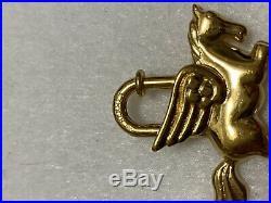 HERMES PEGASUS Cadena Lock Gold Tone Metal Horse Bag Charm