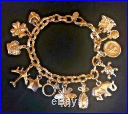 JOAN RIVERS MY FAVORITE THINGS Gold Tone Link Charm Bracelet