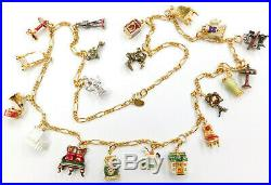 Joan Rivers Colorful Enamel Gold Tone Charm Necklace Baby, Household 31