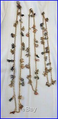 Joan Rivers Noahs Ark Charm Necklace-Gold Tone- (3) Necklaces-41, 34 & 29