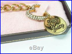 Juicy Couture Bracelet with RARE Planet Juicy and Lady Juicy Charm Gold Tone