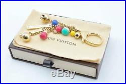 LOUIS VUITTON Key Charm Gold-Tone Multicolor LV Auth th168