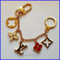 Louis Vuitton Fleur De Monogram Bag Charm Chain Key Ring M65111