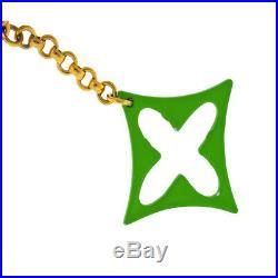 Louis Vuitton Flower Monogram Gold-tone Charm Key Chain