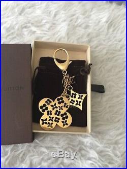 Louis Vuitton Goldtone Cutout Fleur Ivy Bag Charm/Key Chain