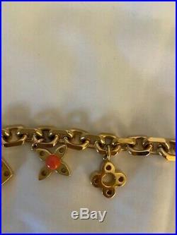 Louis Vuitton Hide and Seek Charm Bracelet Gold Tone M66531
