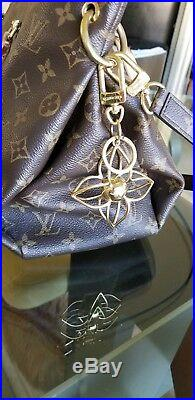 Louis Vuitton Sphere Bag Charm Key Fob with LV box and LV pouch Gold tone