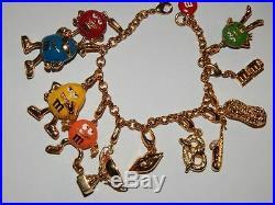 M. & M.'s Monet Gold Tone Charm Bracelet- complete