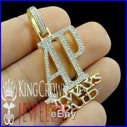 Men 10K Yellow Gold Tone AP Always Paid. 33ct Real Genuine Diamond Pendant Charm