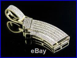 Men's 10K Yellow Gold Real Diamond Custom Ak Gun Clip Charm Pendant. 40 CT 1.7