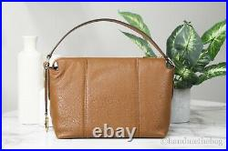 Michael Kors Brooke Luggage Pebbled Leather Medium EW Convertible Shoulder Bag