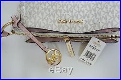 Michael Kors Nicole Triple Compartment Crossbody Bag MK Vanilla Pink(Blossom)