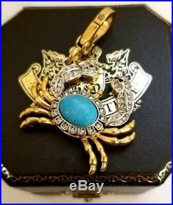 NEW w TAG BOX JUICY COUTURE Stone Crab CHARM White Pave Crystals YJRU 2542