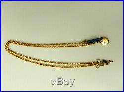 New Prada Pendant Necklace Gold Tone Rope Chain With Sophie Charm