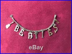 Original The Beatles 1960s Vintage Gold Tone Charm Bracelet Chain (UK)
