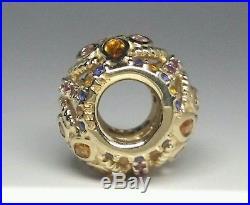 Pandora 14k Gold Color Fresco Charm Multi Colored Crystals