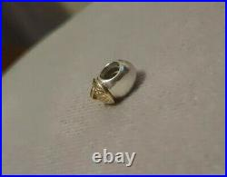 Pandora Two Tone Silver And Gold Acorn Tree Charm Extremely Rare Retired 925 ALE
