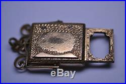 Rare Antique Victorian Gold Filled Bloodstone Watch Fob Charm With Hidden Frame