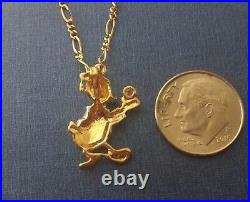 Rare Vintage 18 K 2-Tone Solid Yellow White Gold Diamond Duck Charm / Pendant