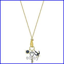 Tarot Magic Charm Pendant Multi-colored Gold Tone 2019 Swarovski Jewelry 5490921