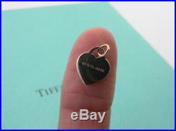 Tiffany And Company Mini Rubedo Rose Gold Toned Heart Charm T & Co. Metal