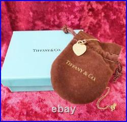 Tiffany & Co Return to Tiffany Heart Tag Charm Pendant 18 Gold-Tone Necklace