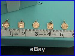 Tiffany & Co Rubedo Metal Rose Gold Tone Lexicon Charms Full Complete Set