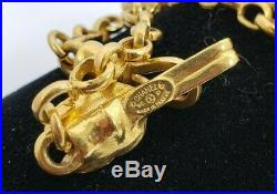 VTG Chanel Chunky Gold Tone Charm Necklace Made In France CC 96P 28 Chain