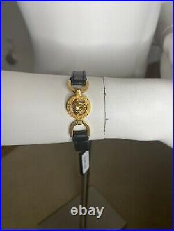 Versace Rodeo Queen V-Western Medusa Leather Belt Bracelet NWT! $350