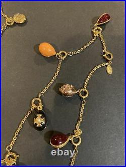 Vintage Beautiful JOAN RIVERS Gold Tone 21 Detachable Charms Necklace
