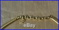 Vintage CHRISTIAN DIOR Lapis bLUE Stone SIGNED Rhinestone Goldtone Collar CHARM