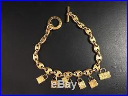 Vintage Celine iconic gold toned charm necklace purse bag