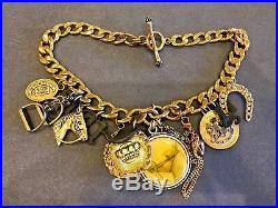 Vintage Juicy Couture Talley Ho Rodeo Chunky Prefixed Charm Necklace Vhtf