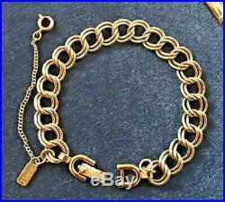 Vintage Monet Lot, 2 gold-tone bracelets and 26 charms (2 silver-tone)