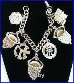 Vintage Selro or Napier Asian Oriental Face Charm Bracelet Goldtone Rare VGC