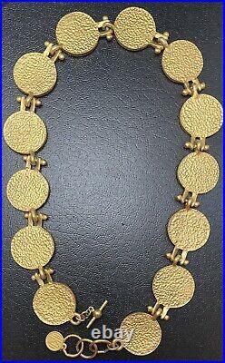 Vtg Anne Klein Crest Medallion Charm Necklace Lion Coin Estate Runway Couture